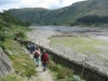 The walls around the drowned village of Mardale revealed by the low level  of Haweswater.