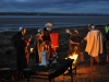 Roman spirit at Bowness on Solway beacon lighting. Photo copyright Fiona Exon.