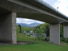 Keswick Railway Footpath. The path passes under the A66 dual carriageway viaduct.