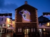 Keswick. Christmas lights on the Moot Hall in the Market Place.
