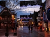 Keswick. Christmas lights in the Market Place.