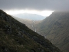 Looking back up Kirkstone Pass from the ridge of Caudale Moor.