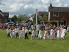 Langwathby.  Maypole Dancing on the village green