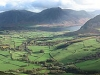 The foot of Loweswater and the Lorton Vale, the foot of Crummock Water with Whiteside and  Grasmoor beyond, then Melbreak and Hen Comb, from Carling Knott.