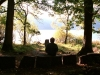 The open-air theatre by the lake at Mirehouse