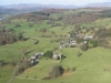Looking to Far Sawrey, Near Sawrey and Esthwaite Water. St Peter\'s Church lower centre.