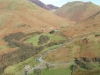 Buttermere - Newlands Valley to the top, Honister Pass to the right.