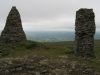 Kirkby Stephen from the two northernmost cairns of Nine Standards