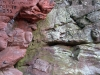 Faces in the cliff at Lacy's Caves