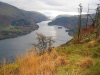 Across Thirlmere towards Helvellyn and Dunmail Raise.
