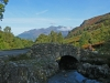 Ashness Bridge, with Skiddaw beyond.