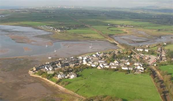 image of an aerial view of Ravenglass