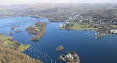 image of Windermere lake in the Lake District in Cumbria