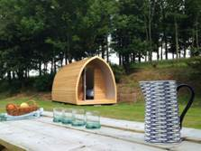 image of a camping pod in the lake district