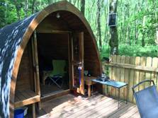 image of a camping pod for lake district glamping