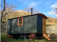 image of pet friendly shepherds huts in the lake district for glamping