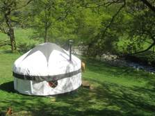 image of pet friendly yurts in the lake district for glamping holidays
