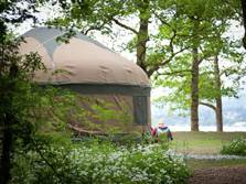 glamping lake district, long valley yurts
