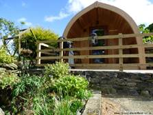 image of an ensuite glamping pod in the lake district