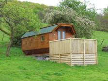 image of glamping lodges at ulveston in the lake district