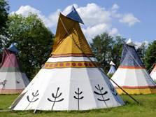 image of glamping tipis at windermere in the lake district