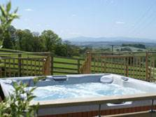 image of hot tub at tottergill lake district holiday cottages
