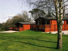 image of a lake district holiday lodge at grange over sands