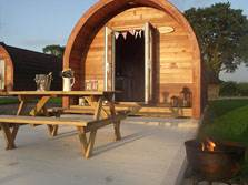 image of a pet friendly camping pod with hot tub in the lake district