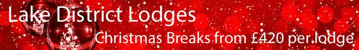 image of a Christmas Lodges in the Lake District Offer banner