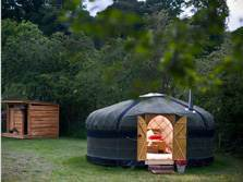 image of yurts in the lake district