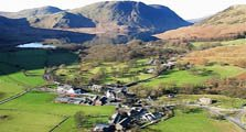 an aerial image of buttermere village serving as an image link to the information page for buttermere village