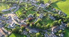 aerial image of caldbeck as an image link to the information page for caldbeck village