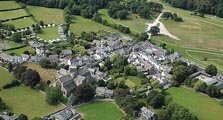 image of an aerial view of cartmel village acting as an image link to the information page for cartmel village