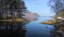 an image of ennerdale water, the eigth largest of the lakes in the Lake District