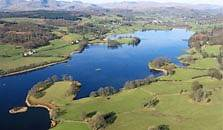 an image of esthwaite water, the eleventh largest of the lakes in the Lake District