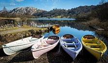 an image of boats at grasmere, the thirteenth largest of the lakes in the Lake District