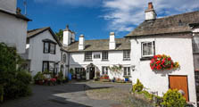 image of the centre of hawkshead in the lake district uk, serving as an image link to the information page for hawskshead