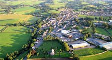 aerial image of kirkby stephen as an image link to the village information page