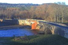 image of the river eden at Brougham Castle penrith webcam