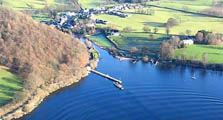 aerial image of pooley bridge as an image link to the information page for pooley bridge information page
