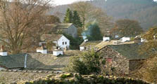 image of Far Sawrey village in the South Lakes