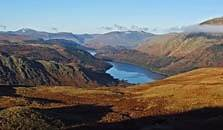 an image of thirlmere, the seventh largest of the lakes in the Lake District