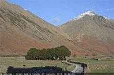 image of Wasdale taken from Wasdale Head webcam in the Lake District