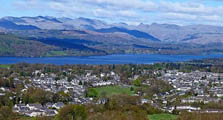 image of Windermere village in the South Lakes