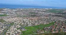 aerial image of workington and the irish sea linking to workington town page
