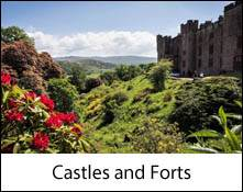 image of the exterior of wray castle which is an image link to the castles and forts to visit in the lake district and cumbria page