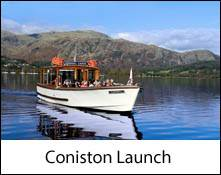 an image of a boat trip on coniston lake in the lake district , cumbria