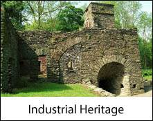 image of a disused lime kiln which is an image link to the industrial heritage of the lake district and cumbria page