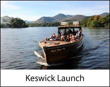 an image of a keswick launch on a boat trip on derwentwater in the lake district