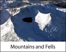 an aerial image of helvellyn mountain which is an image link to the  mountains of the lake district page
